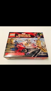 Lego Marvel Super Heroes Captain America's Avenging Cycle #6865 New Sealed Dallas, 75254