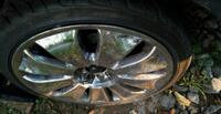 chrome 5-spoke car wheel with tire Hagerstown, 21740