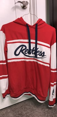 Reckless hoodie in red and white South Jordan, 84095