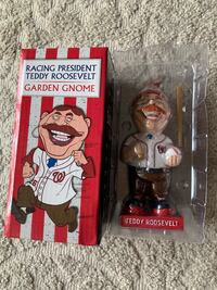 Washington Nationals Teddy Roosevelt Bobblehead Garden Gnome Falls Church, 22046