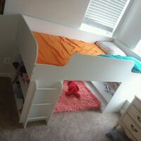 White loft bed with build in shelves  Brambleton, 20148