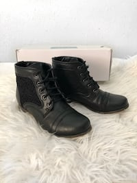 Black Lace Up Ankle Boots Richmond, V6Y 2B6