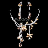 silver and diamond necklace and earrings set Falls Church, 22041