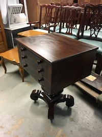 Solid walnut wood antique lamp table, over 100 years old! Englishtown, 07726