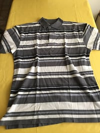gray and white striped polo shirt Euless, 76039