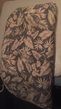 Brown and black floral cushion Industry, 15052