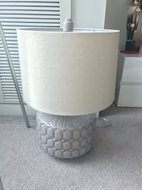 White and gray table lamp Chicago, 60606