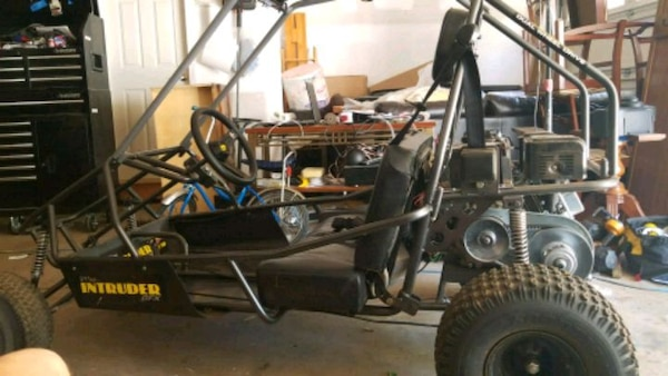 Black and gray highly modified go-kart