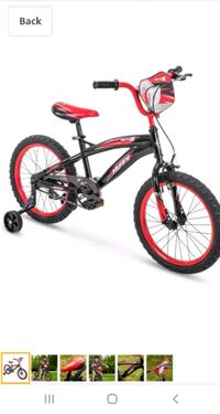 "Huffy Moto X 18"" Bicycle with training wheels"
