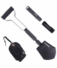 New Military Portable Folding Shovel and Pickax,Compact Multifunctiona