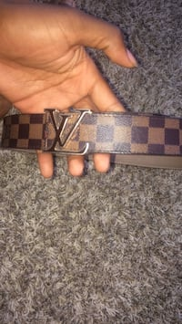 brown and black Louis Vuitton leather belt Humble, 77338