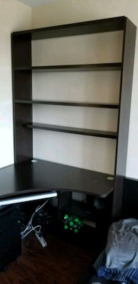 black wooden 3-layer shelf Coquitlam, V3J 1T5