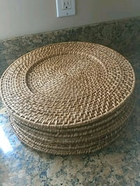 6 Rattan chargers San Diego, 92154