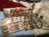 Games head set and Xbox 360 av cord bundle $30 South Bend, 46615