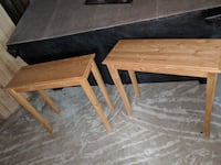 two square brown wooden tables Aroda, 22709