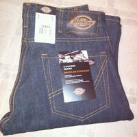 NEW: mens 32x32 Dickies dark wash 5 pocket regular Edmonton, T6X 1M6