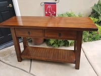 Wood sideboard table purchased from World Market
