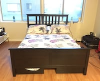 IKEA Hemnes Bed Frame, Queen Size, with Underbed Drawers Washington, 20010