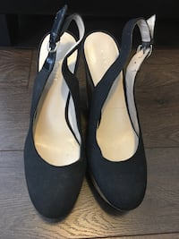 Women's black wedge sandals sz6 1/2 Milton, L9E
