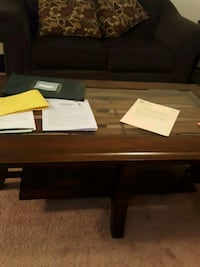 brown wooden table with drawer Edmonton, T5X
