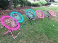 Springy fun folding chairs  (your choice of color) Needham, 02494