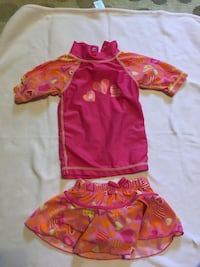 12-18 month bathing suit 50spf heart pattern like new $5 Hagerstown, 21740