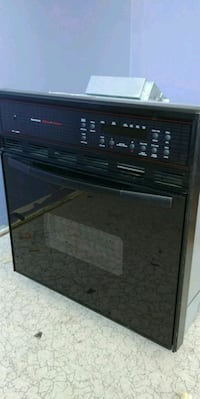 Black Kenmore wall oven