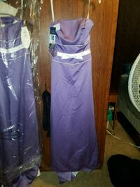 Size 6 Alfred Angelo white/purple bridesmaid dress Culloden, 25510