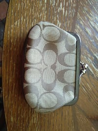 white and gray coach coin purse North Las Vegas, 89030