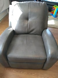 black leather padded rolling chair Catlett, 20119
