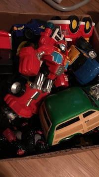red Transformers toy