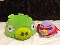 Angry birds toys/bed pillows set Toronto, M3K 1E4