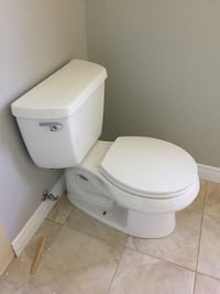 white ceramic toilet bowl with cistern Mississauga, L5A 2R5