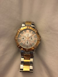round gold-colored chronograph watch with link bracelet Ajax, L1S 6Y7