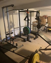 Titan power rack/plates/2 benches/accessories and more extras in desc.