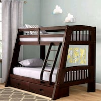 brown wooden bunk bed frame Downey, 90240