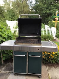 Hunter Green propane gas grill. Works great still but could use some TLC with new flavorizors. Brewster, 10509
