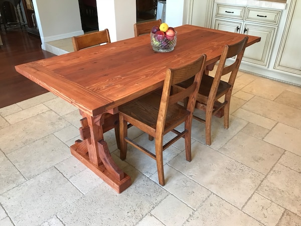 Solid pine 6 foot farmhouse kitchen table (chairs excluded)