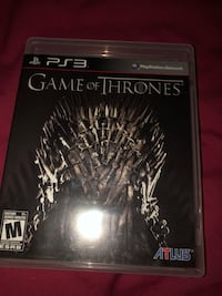 PS3 Game of Thrones game Dollard-des-Ormeaux, H9B 2N2