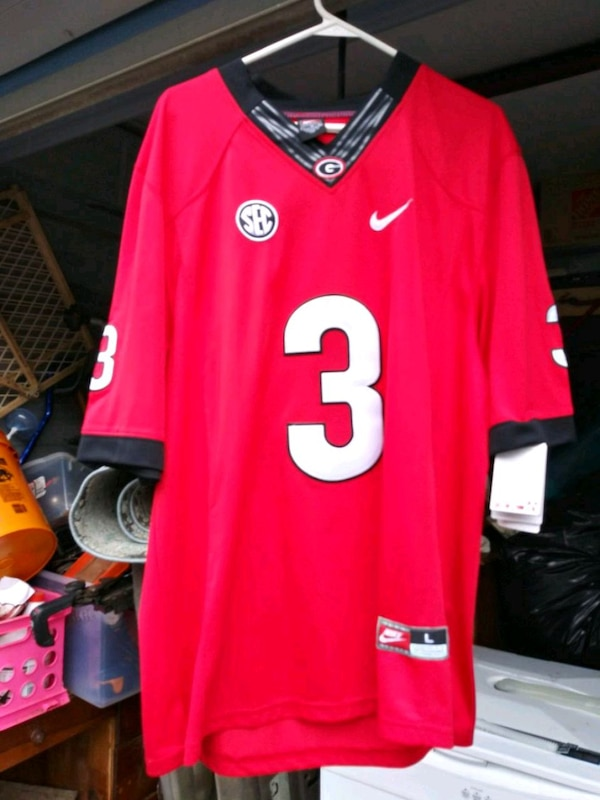 brand new 89f58 1f6bb red and white todd gurley sec Nike NFL jersey