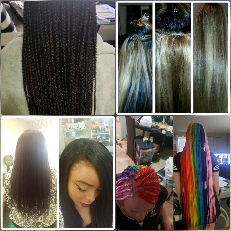 Weaving and braiding hair extensions