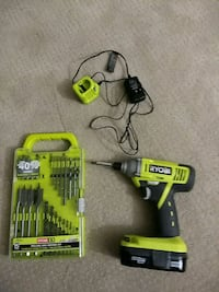 Ryobi P234G impact drill with battery and charger. Frederick, 21702