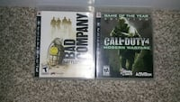 two Sony PS3 game cases
