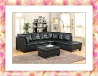 Black Sectional Brand New Like Leather Silver Spring, 20906
