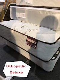 Brand new orthopedic deluxe spring mattress with bamboo fabric warehouse sale  多伦多