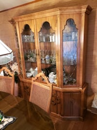 brown wooden framed glass display cabinet Towson, 21286