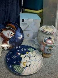 Christmas platters and cannisters Edmonton, T6L 5C9
