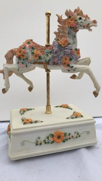 white and pink floral print table lamp Great Falls, 59401