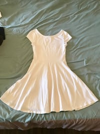 Topshop White Skater Dress