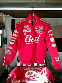 red Budweiser zip-up racing jacket Hemet, 92545